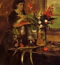 portrait of mme  rene de gas nee estelle musson 1872