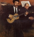 Portrait of Pagens and Auguste De Gas circa 1869 Musee d Orsay France