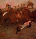 Scene from the Steeplechase the Fallen Jockey 1866 PC