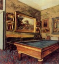 The Billiard Room at Menil Hubert 1892 Staatsgalerie Stuttgart Germany