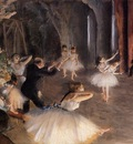 The Rehearsal of the Ballet on Stage  circa 1874  Metropolitan Museum of Art USA
