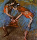 Two Dancers with Yellow Corsages 1902 PC