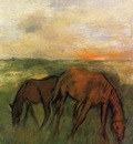 Two Horses in a Pasture 1871 PC