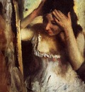 Woman Combing Her Hair before a Mirror circa 1877 Norton Simon Museum USA