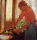 Woman Ironing circa 1880 Walker Art Gallery England