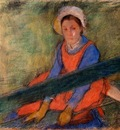 Woman Seated on a Bench 1885 PC