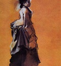 Young Woman in Street Dress 1872 Fogg Museum of Art USA