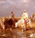 Schreyer Adolf Arabs Watering Their horses