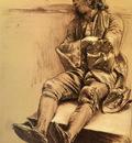 Menzel Adolph Von Schlafender Mann