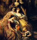 Monticelli Adolphe Empress Eugenie And Her Attendants