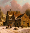 Eversen Adrianus A Village In Winter