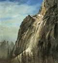 Bierstadt Albert Cathedral Rocks A Yosemite View