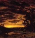 Bierstadt Albert Evening on the Prarie
