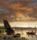 Bierstadt Albert Harbor Scene