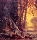 Bierstadt Albert Moose Hunters Camp