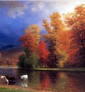 Bierstadt Albert On the Saco