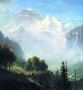 Bierstadt Albert Staubbach Falls Near Lauterbrunnen Switzerland