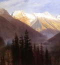 Bierstadt Albert Sunrise at Glacier Station