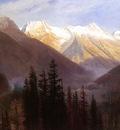 Bierstadt Albert Sunrise at Glacier Station