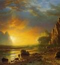 Bierstadt Albert Sunset on the Coast