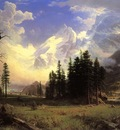 Bierstadt Albert The Morteratsch Glacier Upper Engadine Valley Pontresina