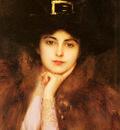 Lynch Albert Portrait Of An Elegant Lady