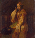Decamps Woman in Oriental Dress