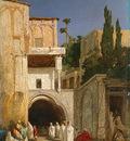 Descamps Before a Mosque Cairo c1868