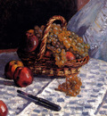 Sisley Alfred Still Life Apples And Grapes