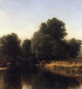 Bricher Alfred Thompson Cattle by the River