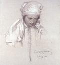 alphonse mucha portrait of a girl
