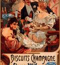 Biscuits Champagne Lefevre Utile 1896 35 5x52cm
