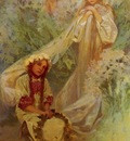 Mucha Alphonse Maria Madonna Of The Lilies