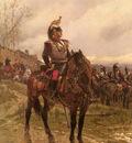 Neuville Alphonse Marie De The Hussars