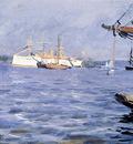 Zorn Anders The Battleship baltimore In Stockholm Harbor
