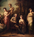 Kauffmann Angelica Portrait Of Philip Tisdal With His Wife And Family