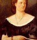 Feuerbach Anselm Portrait Of A Lady Holding A Fan