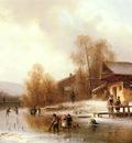 Doll Anton Skaters And Washerwomen In A Frozen Landscape