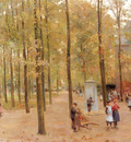 Mauve Anton The Brink In Laren With Children Playing