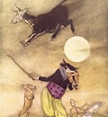 Rackham Arthur Mother Goose The Cow Jumped Over the Moon