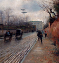 Pratella Attilio Street Scene In Autumn