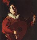 MANFREDI Bartolomeo Lute Playing Young