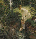 pissarro bather in the woods