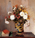 Pissarro Camille Chrysanthemums In A Chinese Vase