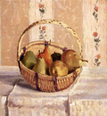 Pissarro Camille Still Life Apples And Pears In A Round Basket