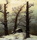 FRIEDRICH Caspar David Dolmen In The Snow