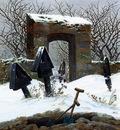 FRIEDRICH Caspar David Graveyard Under Snow