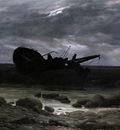 FRIEDRICH Caspar David Wreck In The Moonlight