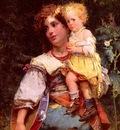 Detti Cesare Auguste Gypsy Woman And Child