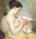 Chaplin Charles A Beauty with Doves